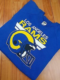 7f41f30ca67 Vintage 1990's LA Rams Blue True VTG Huge Logo Sweat Shirt Size Large L 42-