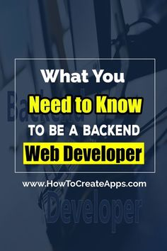 Backend web developers are in high demand these days. Developers who specialize in the backend are the ones who earn the highest salary.  So how do you become a backend web developer? Read this article to find out. #webdesignsalary