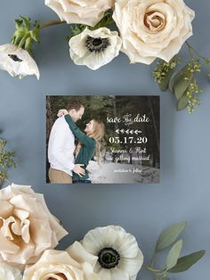Rustic Country Photo Wedding Save the Date Cards Boho Wedding Ring, Casual Wedding Hair, Wedding Pins, Wedding Trends, Wedding Ideas, Beach Wedding Colors, Summer Wedding Bouquets, Wedding Flowers, Country Wedding Invitations