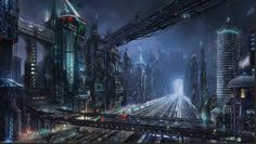 Sci-fi night city by Lac-Tic on DeviantArt