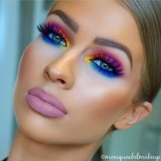 RAINBROW BRITE || Shop our glitters link in bio glitterrealm.com tag a friend who loves glitter. Obsessing over this Fabulous Glitter Rtist: @moniqueabelmakeup creations ! #GlitterRealm