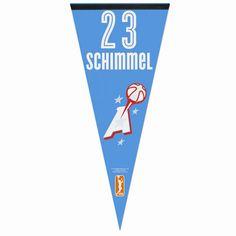 Shoni Schimmel Atlanta Dream WinCraft 17'' x 40'' Player Pennant – Light Blue - $11.99