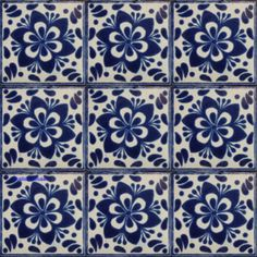 Hacienda Mexican Tile Blue White Mymexicantile Mexicantiles Decorativetiles