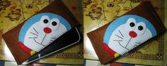 made this Doraemon case for my phone ^^