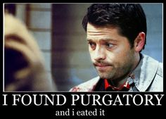 BAD, Castiel, BAD, you spit that out RIGHT now! Spit it out!