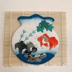江藤まりこ Mariko EtoさんはInstagramを利用しています:「 【#金魚 】 最近postするもの 魚率が高いですねっ 雨が降らずに水が恋しいのかしら。笑 . . . #押絵 #古布 #ちりめん #和 #和小物 #和風 #和雑貨 #ハンドメイド #手作り #インテリア #インテリア雑貨 #interior #海 #夏 #fish…」