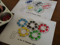 Toddler Approved!: Fun With Olympic Rings - M&M rings