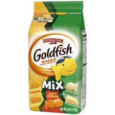 No Bake Snacks, Easy Snacks, Healthy Snacks, Pepperidge Farm Goldfish, Starbucks Vanilla, Goldfish Crackers, Cheddar, Parmesan, Cartoons