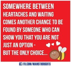 @Randy Clarc    you are not just an option your my only choice