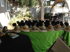 My finished Mickey safari hats for the party Jungle Theme Birthday, Safari Theme Party, Safari Birthday Party, Jungle Party, Baby 1st Birthday, Fiesta Mickey Mouse, Mickey Mouse Bday, Mickey Party, Mickey Mouse Birthday
