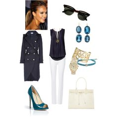 Navy and Turquoise, created by anniepro on Polyvore