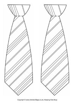 Striped tie template.   http://www.activityvillage.co.uk/sites/default/files/downloads/striped_tie_template.pdf
