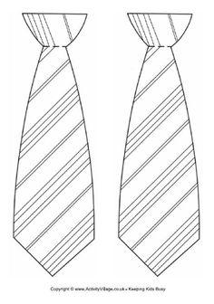 Striped tie template.   http://www.activityvillage.co.uk/sites/default/files/downloads/striped_tie_template.pdf
