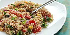 Tabbouleh couscous salad a healthy and light lunch or dinner. Healthy Pasta Recipes, Healthy Pastas, Vegetarian Recipes, Cooking Recipes, Onion Recipes, Indian Food Recipes, Low Sodium Chicken Broth, Couscous Salad, Sauteed Vegetables