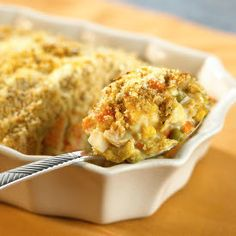 Chicken casserole recipes are some of the easiest and most delicious dinners you can serve your family. For a version that's ridiculously simple to make, try this recipe for a hearty Chicken Parmesan Bake. Easy Chicken Parmesan, Easy Chicken Pot Pie, Chicken Recipes, Veg All Casserole, Casserole Recipes, Chicken Casserole, Cream Of Celery Soup, Food Displays, Dinner Recipes