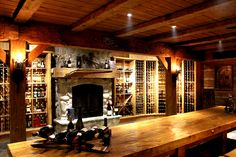 hirsh log homes Timber Homes, Log Homes, Wine Cellar Design, Cabin In The Woods, Cottage Exterior, Ski Chalet, Red Cedar, Custom Homes, Custom Design