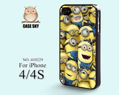 iPhone 4 Case, iPhone 4S Case, Despicable Me, Minion Character, iPhone Case, Plastic Phone Cases Case for iPhone -410229 on Etsy, $9.99