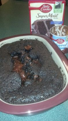 Just made the molten cake from Pampered Chef recipes... In the Microwave... Delish