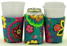 Beverage Insulator Micro Corduroy Fabric PocketHuggie-Handmade, Reusable, Cold/Hot Coffee,So Cold Drinks, Beverages, Pots, Coffee Sleeve, Hot Coffee, Insulation, Corduroy, Beer, Crafty