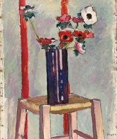 """Anemones"", ca. 1910-1912, H. Lyman Saÿen, oil on canvas, 21 3/4 x 18 1/4 in. (55.2 x 46.3 cm), Smithsonian American Art Museum, Gift of H. Lyman Sayen to his nation, 1967.6.1"