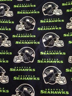 Seattle Seahawks Navy Blue Cotton Fabric by the Yard