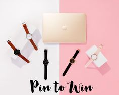 Pin this image to go in the draw to win a Gold MacBook + the entire Fifth watches collection (all 5 timepieces). Visit www.thefifthwatches.com/tfwgoesgold for more entry options x