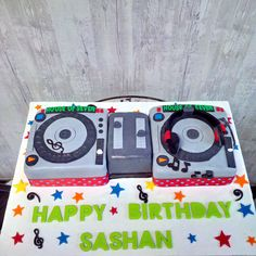 Mixing up your beats and enjoying a delicious cake... now that's an afternoon well spent.