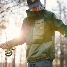 The Bitter Creek Anorak is designed for when the rain comes in and temperatures drop. Our goal was to build a sturdy, durable jacket with classic style and p Anti Fashion, Mens Fashion, Mens Winter Sweaters, Hunting Clothes, Sport Wear, Outdoor Outfit, Fashion Details, Canada Goose Jackets, Street Wear