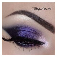 Purple Eyeshadow ❤ liked on Polyvore featuring beauty products, makeup, eye makeup, eyeshadow and eyes