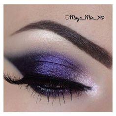 Purple Eyeshadow ❤ liked on Polyvore featuring beauty products, makeup, eye makeup, eyeshadow, eye make-up et eyes