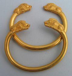 Bracelets Gold Imereti, Vani Museum Museum of Georgia Collection Archaeology Period 5th century B.C.