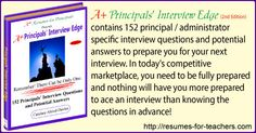 Discover 152 of the Most Common Questions Asked During Principal Interviews #principal #interview