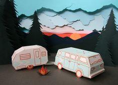 letterpress 3D DIY van card