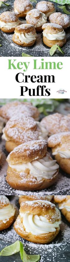 Key Lime Cream Puffs are a delicious summer dessert recipe!  #dessert #desserttime #creampuffs #keylime #whatsfordessert #dessertrecipes #desserttable