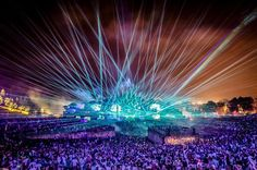 TOPSHOT - This photo taken on July 2016 at the De Schorre recreation area in Boom shows the first day of the Tomorrowland Electronic Music Festival. The edition of Tomorrowland Electronic. Get premium, high resolution news photos at Getty Images Ultra Music Festival, Edm Music Festivals, Edm Festival, Festival Miami, Armin Van Buuren, Lollapalooza, Katy Perry, Coachella, Tomorrowland Music Festival