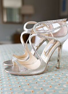 Best Ideas For Bridal Shoes Strappy Jimmy Choo Dream Shoes, Crazy Shoes, Cute Shoes, Me Too Shoes, Ugg Boots, Shoe Boots, Silver Strappy Heels, Wedding Heels, Kinds Of Shoes