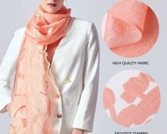 Prepracovaný šál z umelého hodvábu s vyšívaným vzorom 170 x 70 cm0 Accessories, Fashion, Moda, La Mode, Fasion, Fashion Models, Trendy Fashion