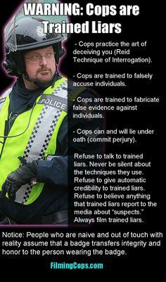 Warning: Cops are Trained Liars