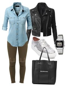 """""""Simplicity."""" by frenkiefashion on Polyvore featuring Steve Madden, LE3NO, Balenciaga and Casio"""