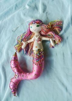 sweetest MERMAID DOLL, a lush handmade xmas gift | eBay