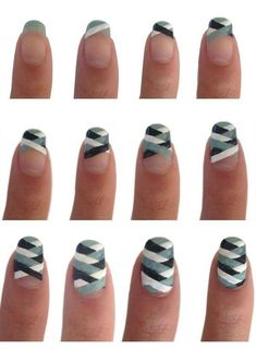 How to make lovely nail art step by step DIY tutorial instructions ♥ How to, how to make, step by step, picture tutorials, diy instructions, craft, do it yourself ❤