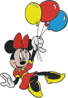 Minnie Mouse Machine Embroidery Design 0028 by phoenixembroidery, $2.50