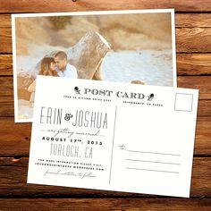 Postcards to save on postage.