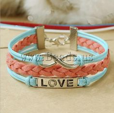 Leather Bracelet jewelry  http://www.beads.us/product/Leather-Bracelet_p86803.html