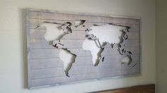 Wood map cutout Wooden world map Stained wood map by 302WoodWorks