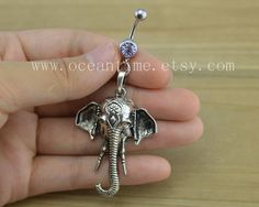 Hey, I found this really awesome Etsy listing at http://www.etsy.com/listing/154439595/elephant-belly-button-ringselephant
