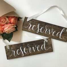 Reserved Signs for Ceremony Seating