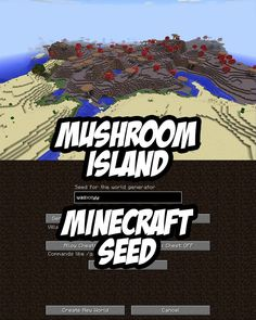 Mushroom Island Seed for PC/Mac Minecraft:wasxxyy