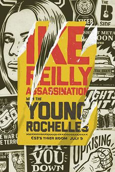 GigPosters.com - Ike Reilly Assassination - Young Rochelles, The