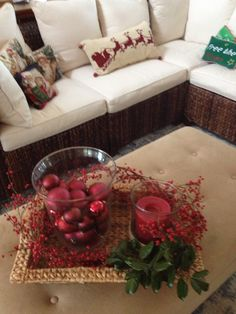 Coffee table arrangement Coffee Table Arrangements, Coffee Table Centerpieces, Celebrations, Holiday, Christmas, Decorating Ideas, Crafting, Gift Wrapping, House